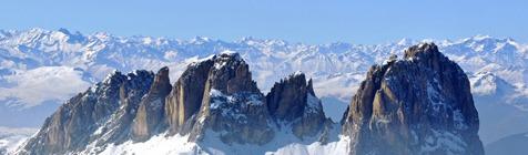 De Alpentoppen van Zuid-Tirol